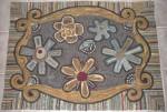 Annie's Flower Power hooked by Linda Gartner