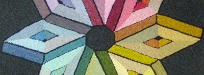 Cindi Gay's Color Planning class for rug hookers, learn how to color plan hooked rugs
