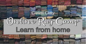 Online rug hooking camp, internet lessons and tutorials