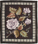 Rose rug hooked mat