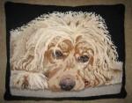 Samson rug hooked pillow