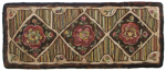 Antique Rose Runner hooked rug