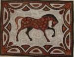 Horse (Nick) hooked rug