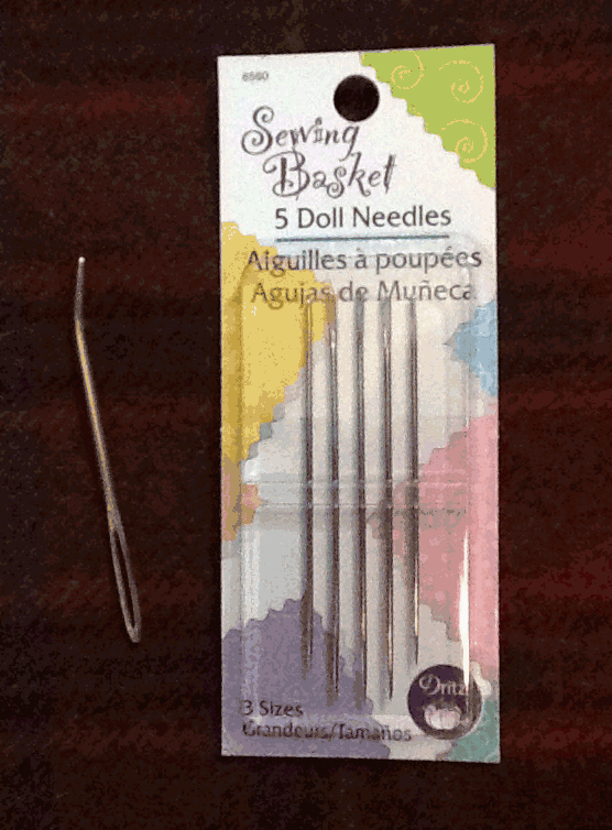 Needle I use to whip the edge of a hooked rug