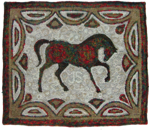 House of Price pattern, Horse, hooked by Cindi Gay for Jacob