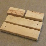 2x4-unassembled for rug hooked footstool base