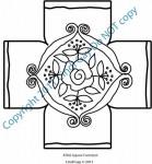 Rose Scroll Footstool — Square Rug Hooking Pattern