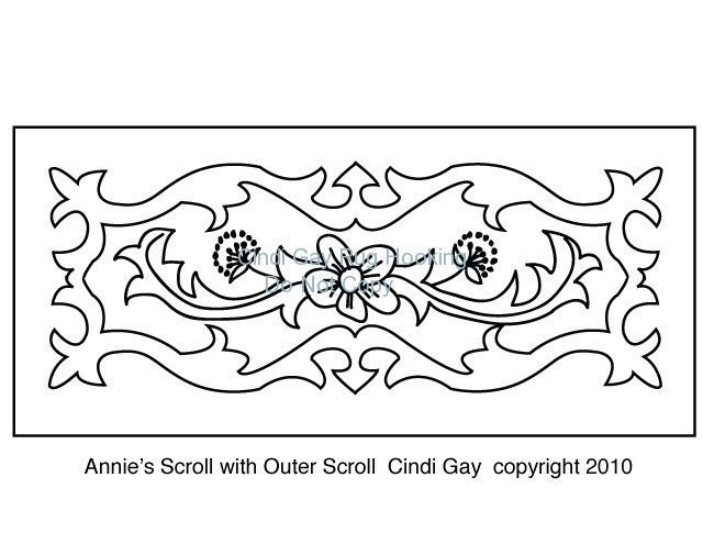 Annie's Scroll with Outer Scroll Rug hooking pattern