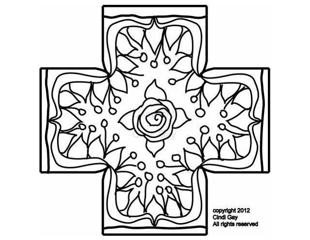 Rosenweeds Footstool Pattern