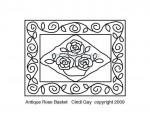 Introducing Antique Rose Basket rug hooking pattern
