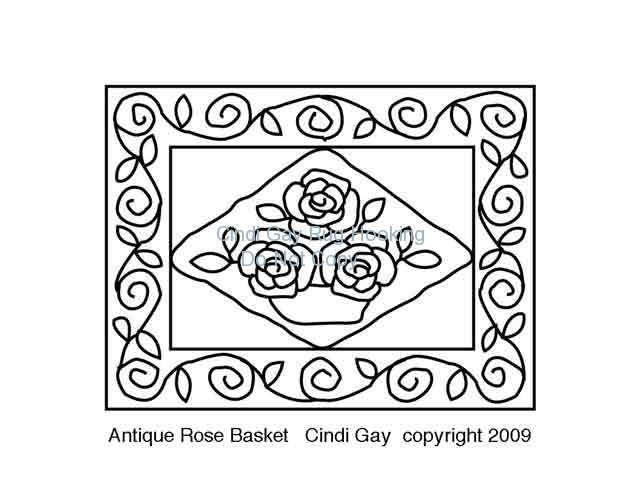 Introducing Antique Rose Basket rug hooking pattern