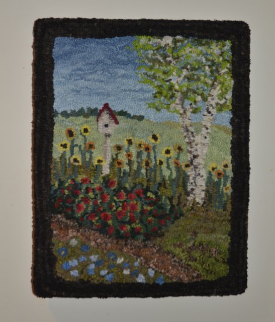 Pictorial rug hooking kit available in limited quantities