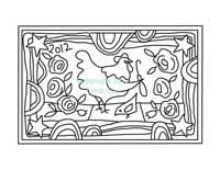 Chicken Hook a Doodle Do rug hooking pattern