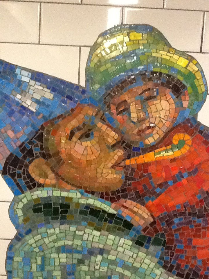 Subway art in NYC is a lot like rughooking