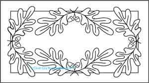 Oak and Acorns Rug Hooking Pattern