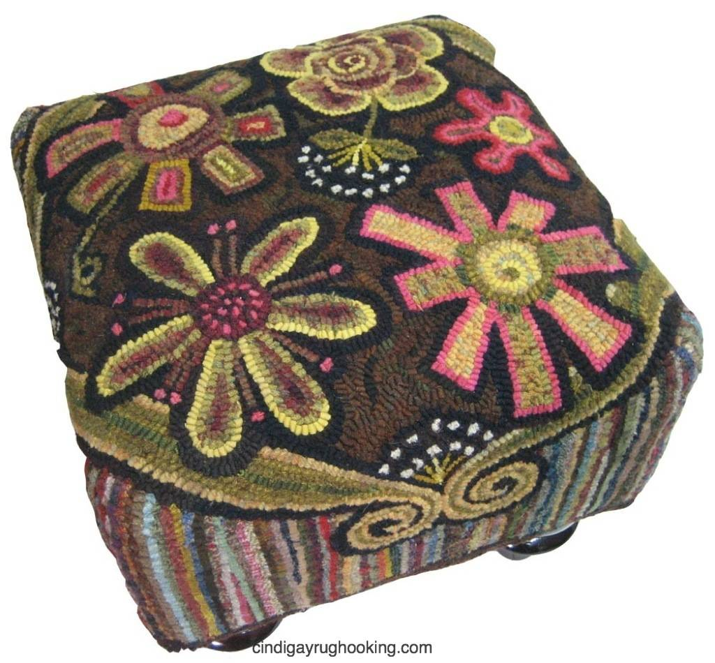 Annie's Flower Power Footstool