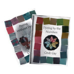 dye book set by Cindi Gay, rug hooking teacher