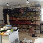 The new rug hooking studio is ready!
