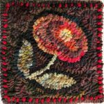 Little Flower, free rug hooking pattern by Cindi Gay
